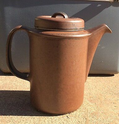 Vintage Original Arabia Finland Ruska Large Coffee Pot With Lid
