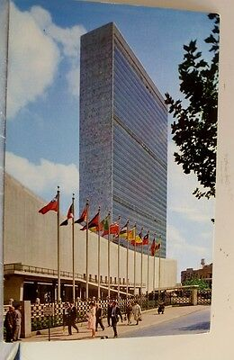 United Nations UN Building New York NY NYC Postcard Old Vintage Card View Post
