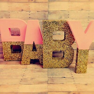 Painted letters for baby shower