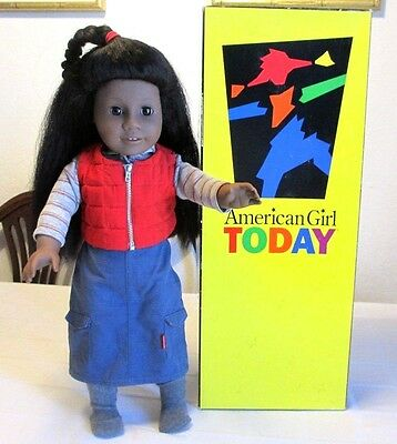 "AMERICAN GIRL TODAY Pleasant Company 18"" African American Doll w Box, GT1E, VGC"