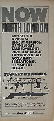"Stanley Kubrick ""Clockwork Orange"" UK ad 1973 + Bonus ad"