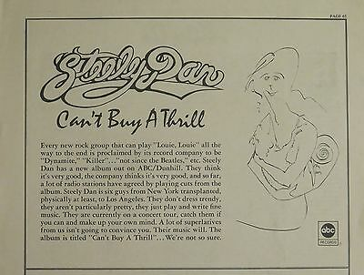 "Steely Dan ""Can't Buy A Thrill"" US ad 1972"