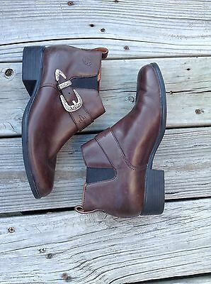 Ariat Chelsea Western Brown Leather Ankle Boots Women's Sz 8