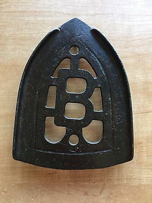 Antique Cast Iron Sad Iron Stand Trivet B design