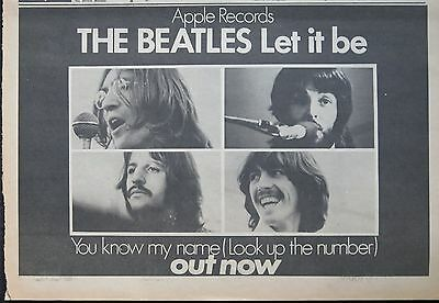 "The Beatles ""Let it be"" ""You know my name"" large ad 1970 UK + Bonus"