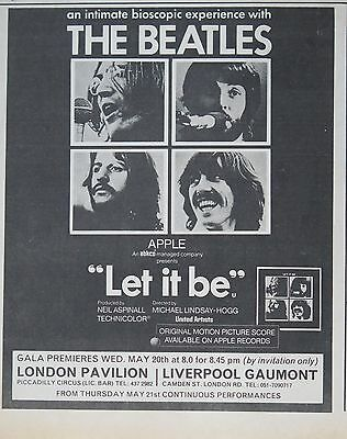 "The Beatles ""Let It Be"" movie ad 1970 UK"