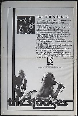 The Stooges first album full-page US ad 1969 Iggy Pop