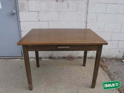 """SOLID WOOD STUDENT DESK w/ PULL OUT DRAWER FROM KANSAS UNIVERSITY 42""""LX30""""WX30""""T"""