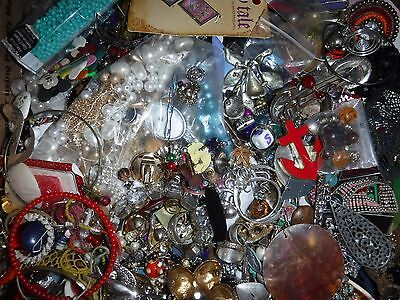 Craft Jewelry 24 Lbs Lot 3E Grab bag Vintage & Cont. Various Craft Jewelry