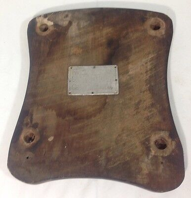 WWII Italian POW PRISONER OF WAR Plaque Seat Trench Art Named: Franc Valantčič