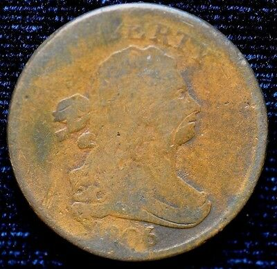 1806 1/2 CENT Draped Bust C-2 Small 6,  R4