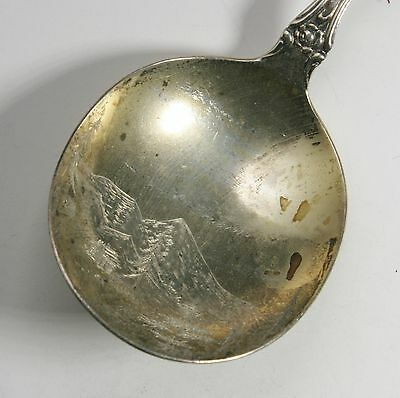 Large 1892 Asheville NC Sterling Souvenir Spoon
