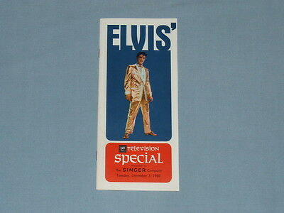 """1968 Elvis """"NBC Television Special"""" Presented by Singer Catalog (Awesome-Clean!)"""