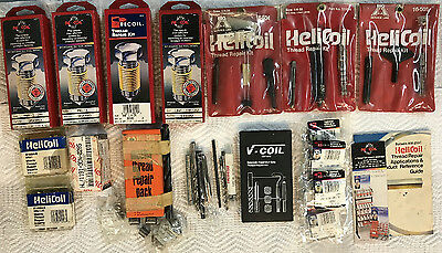 Helicoil lot of tool sets and extra coils mostly for auto repair