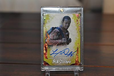 Topps Walking Dead Survival Autograph Card LAWRENCE GILLIARD as BOB infected 15/