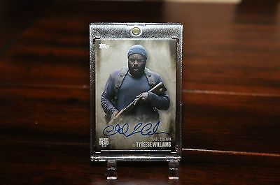 Topps Walking Dead Season 5 Autograph Card CHAD L. COLEMAN as TYREESE WILLIAMS
