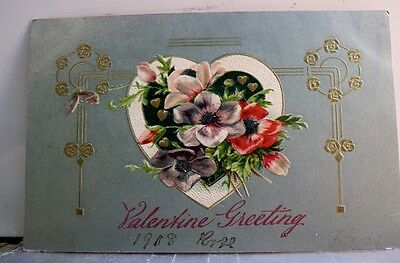 Valentine Greetings Postcard Old Vintage Card View Standard Souvenir Postal Post