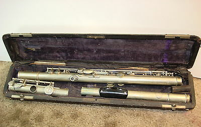 Fabrik F.O. Adler German Flute 1920's ? Needs Repairs