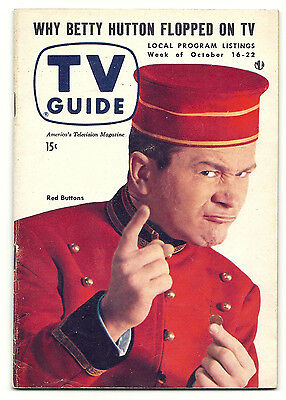 1954 TV GUIDE - Red Buttons - Clooney - Ginger Rogers