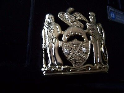 POLICE  GOLD  DET -SUPERIOR HAT BADGE BELONGS TO NYPD OR RAILROAD  sale