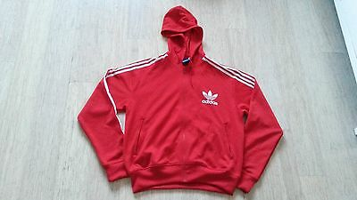 Mens Adidas Red Hoodie Track Jacket Size Xl