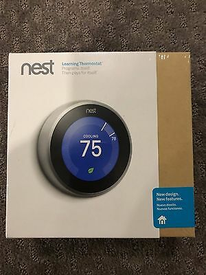 New Nest Learning Thermostat 3rd Generation New SEALED in box