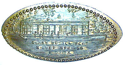 old SILVER SPRINGS FLA GLASS BOTTOM BOAT elongated cent penny FLA-s.s-1