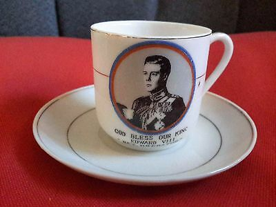 Commemorative Edward VIII Coronation Demitasse Cup and Saucer