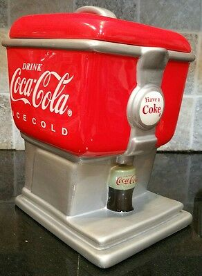 Coca Cola Canister Cookie Jar Soda Fountain Biscuit Snack Gibson 2003 Collectibl