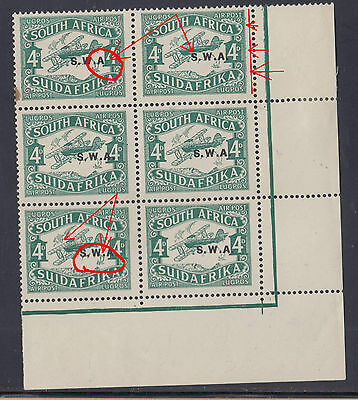 B1702014 CLOUD RETOUCH = row 12-9 and MISSING STOP = MNH South West Africa 1929