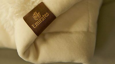 EMIRATES First Class Blanket Wool Red or Beige New Sealed