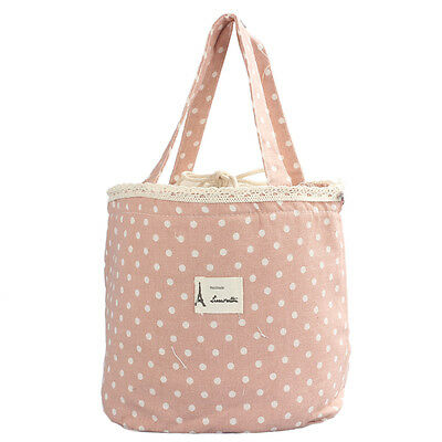 Cooler Bag Thermal Insulated Lunch Box Tote  Bento Pouch Lunch Container