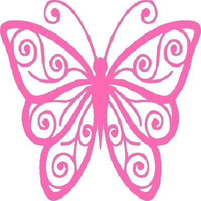 30 Custom Beautiful Pink Butterfly Personalized Address Labels