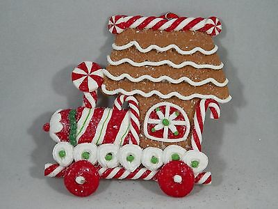 Gingerbread Decorated Candy Train Christmas Tree Ornament new holiday