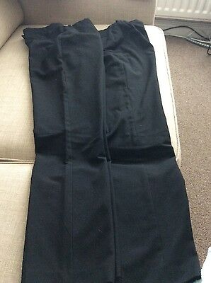 girls straight black school trousers age 13 2pairs