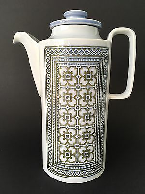 Vintage Hornsea Pottery Coffee Pot In Tapestry Design ~ 70s / 80s