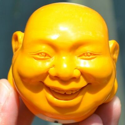 Unique Hand Carved Smile Buddhist Monk Billiard Pool Ball No 1 Carving 60065096
