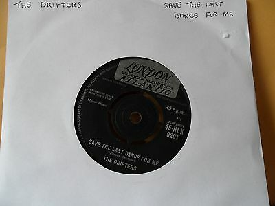 """The Drifters.save The Last Dance For Me.london.7"""" Vinyl Single.45Rpm"""