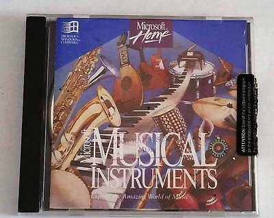 Microsoft Musical Instruments Interactive CD ROM Windows 95 PC Vintage computer
