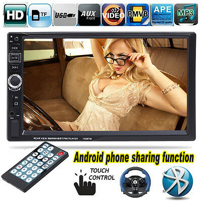 "7"" 2 DIN Car Bluetooth Stereo Radio MP3 MP5 Player Android Mirror Link FM USB TF"