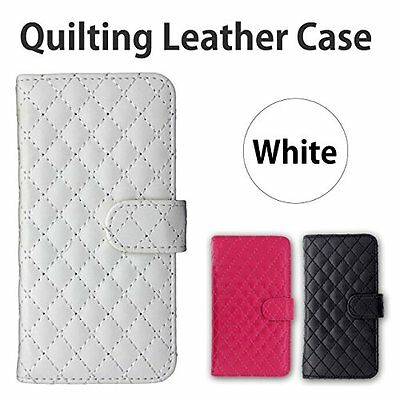 Basio2 Shv36 Quilting Tone Notebook Type Pu Leather Case [White] Quilting Smaf/S
