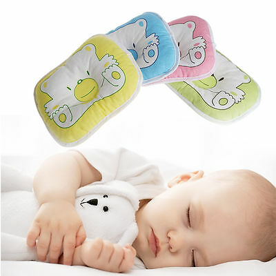 Infant Newborn Baby Head Support Cushion Pad Cot Pillow Prevent Flat Head 3 colo