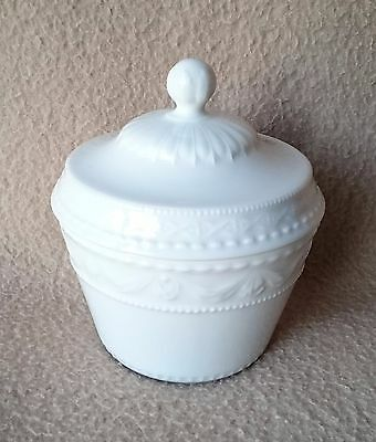 "Continental German Kpm Berlin Blanc De Chine Porcelain Sugar Bowl ""kurland"" Pat"