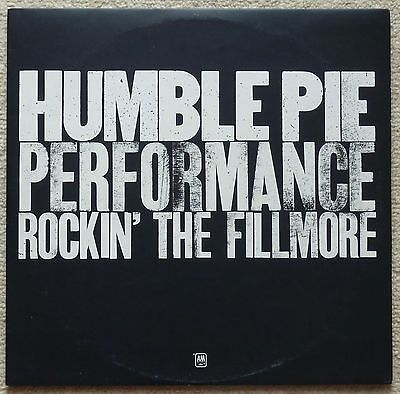 HUMBLE PIE - ROCKIN AT THE FILMORE 2 x LP  UK 1971 A&M 1st Press Translucent RED