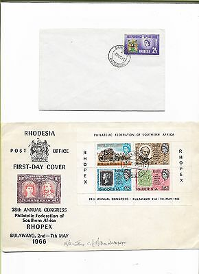 Rhodesia 4 First Day Covers 1965 - '70