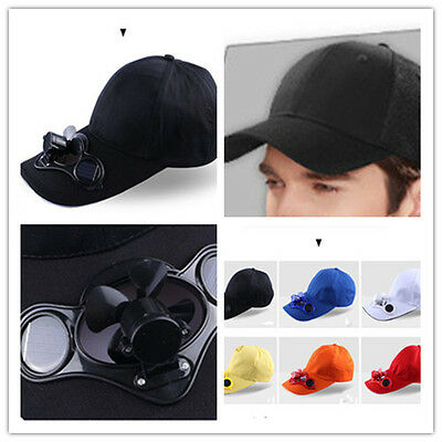 Sport Outdoor Hat Cap with Solar Sun Power Cool Fan For Cycling Creative