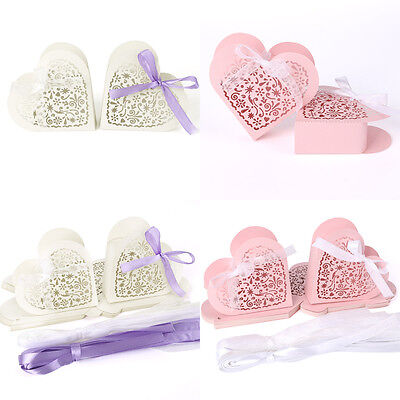Wholesale Big Heart Favor Candy / Gift Boxes Wedding Party Baby Shower Favor