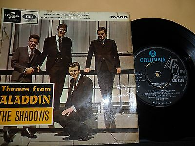 """The Shadows.themes From Aladdin.columbia 4 Track Ep.7"""" Vinyl.45Rpm"""