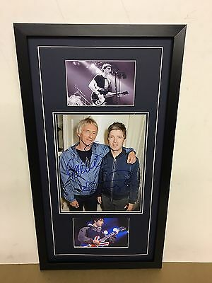 Noel Gallagher & Paul Weller Genuine Hand Signed/Autographed Photograph with COA
