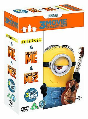 Minions Despicable Me 1 2 Complete 3 Movie Collection New and sealed DVD Box Set